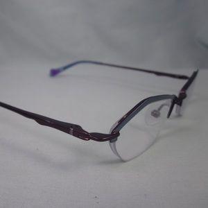 f815a56055b5 Thalia Accessories - THALIA Rx Eyeglasses BESO BL Metal Half Rim Frames